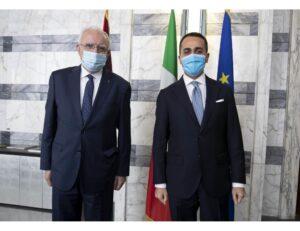 ANSADi-Luigi Di Maio, ha incontrato oggi alla Farnesina il suo omologo del Governo dell'Autorità Nazionale Palestinese, Riad Malki.